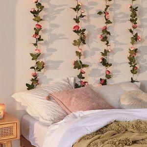 UO Hanging Rose Vine Garland
